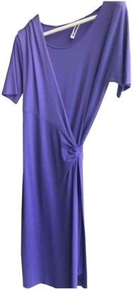 Jil Sander Purple Viscose Dresses