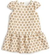 Luli & Me Metallic Polka Dot Dress (Baby Girls)