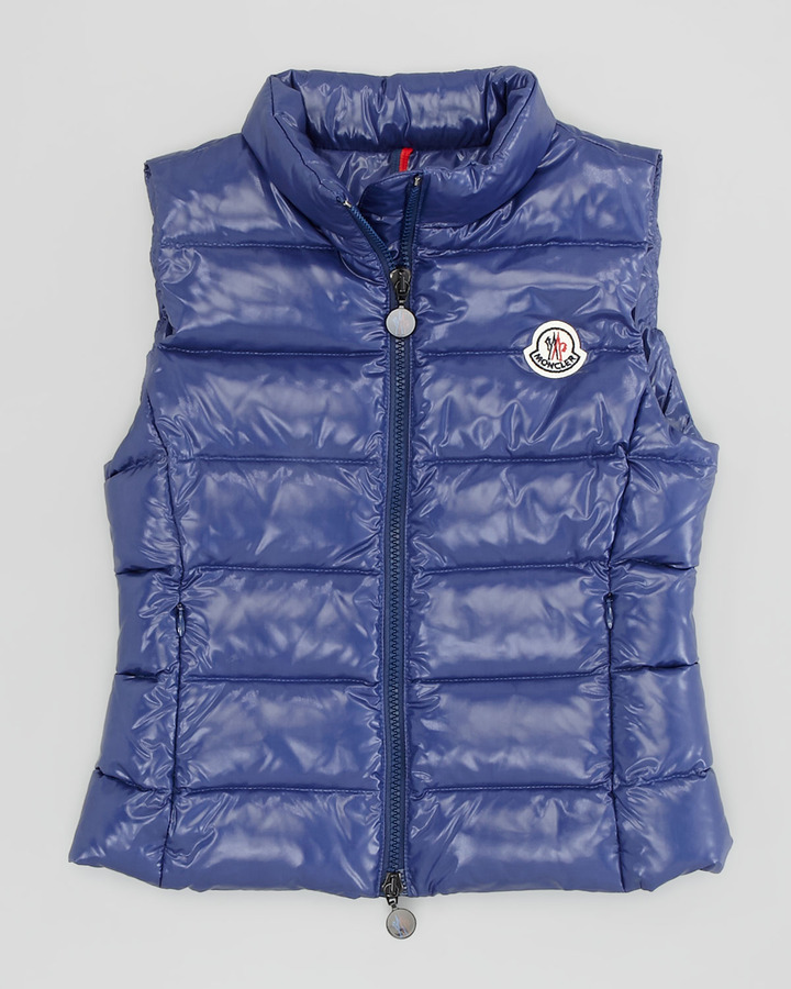 Moncler Ghany Quilted Vest, Blue