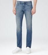 Reiss Reiss Gunther - Light Wash Jeans In Blue