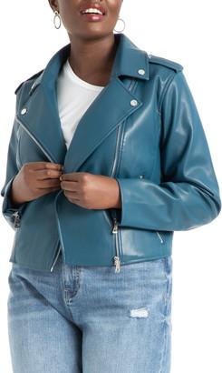ELOQUII Faux Leather Moto Jacket