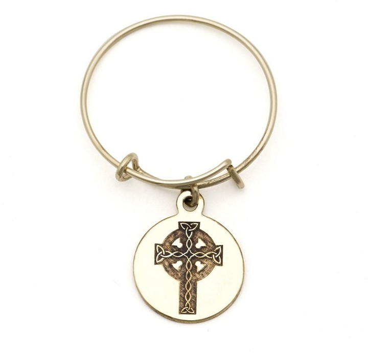 Alex and Ani Celtic Cross Spiritual Imprint Expandable Wire Ring