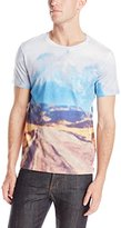HUGO BOSS BOSS Orange Men's Thompsonville Dusty Road Print Jersey Tee Shirt