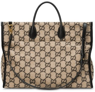 Gucci Monogram Print Tote Bag