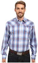Stetson Smokey Blue Ombre Long Sleeve Woven Snap Shirt