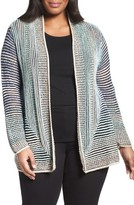 Nic+Zoe Plus Size Women's Stripped Away Cardigan