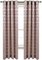 Asstd National Brand Retro Jacquard Grommet-Top Curtain Panel