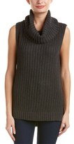 Ella Moss Turtleneck Silk-blend Tunic Sweater.