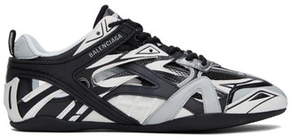 Balenciaga Black and Grey Drive Sneakers