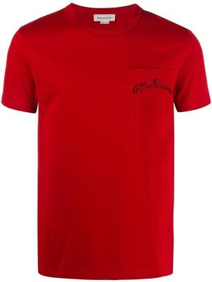 Alexander McQueen logo-embroidered slim-fit T-shirt