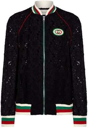 Gucci Macrame Lace Baseball Jacket