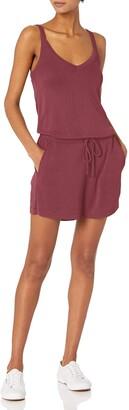 Daily Ritual Sandwashed Modal Blend V-Neck Sleeveless Romper Shorts