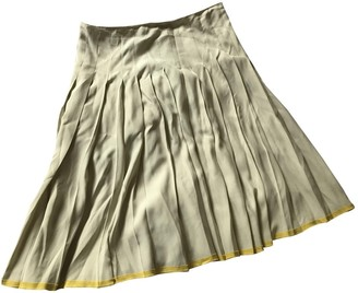Prada White Silk Skirt for Women Vintage