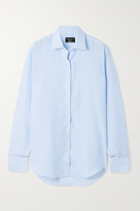 Emma Willis Jermyn Street Linen Shirt - Blue