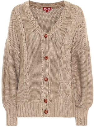 STAUD Blake cable-knit cardigan