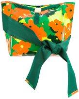Muveil bow handle camouflage shoulder bag - women - Vinyl - One Size