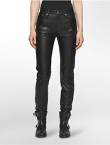 Calvin Klein Rebel Edge High Rise Leather Pants