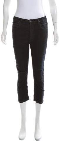 Rick Owens Mid-Rise Cropped Jeans