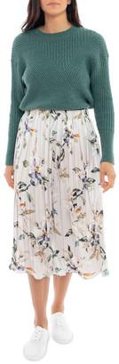 Jump Watercolour Pleated Skirt