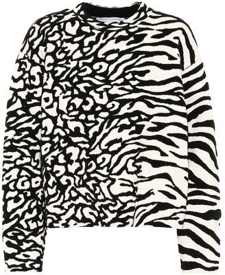 Proenza Schouler White Label Animal-jacquard sweatshirt