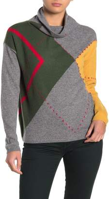 7 Seasons Cashmere Embroidered Color Block Pullover
