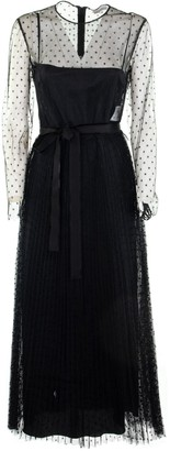 RED Valentino Point Desprit Tulle Pleated Dress