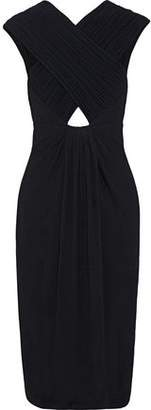 Proenza Schouler Cutout Ruched Crepe Dress