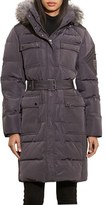 Lauren Ralph Lauren Women's Faux Fur Trim Hooded Down & Feather Fill Utility Coat