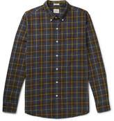 J.Crew Vernon Button-down Collar Checked Cotton Shirt - Navy