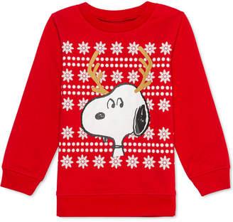 Peanuts Little Boys Snoopy Reindeer Holiday Sweatshirt