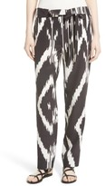 Theory Women's Gunilla Interlace Ikat Print Silk Pants