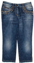 Dolce & Gabbana Cropped Embellished Jeans w/ Tags