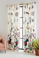Anthropologie Embroidered Badia Curtain