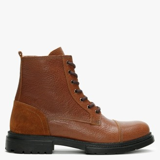 Daniel Sumble Tan Tumbled Leather Work Boots