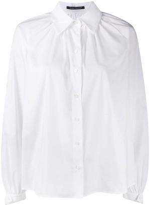 Luisa Cerano Bishop-Sleeves Button-Up Shirt