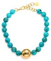 Nest Beaded Turquoise Necklace