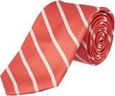 Ike Behar Salmon Sunday Stripe Silk Tie