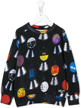 Molo Kids records print sweatshirt