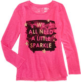 Epic Threads Hero Kids by We All Need A Little Sparkle Glitter Graphic Long-Sleeve T-Shirt, Big Girls (7-16), Created for Macy's
