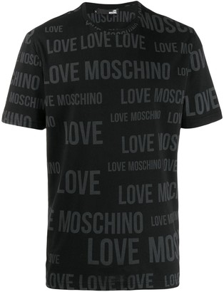 Love Moschino logo print crew neck T-shirt