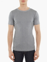 S.n.s. Herning Grey Striped Knitted Cotton T-shirt