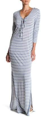 AG Jeans Front Lace-Up Stripe Dress