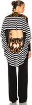 Givenchy Optical Print Silk Georgette Top
