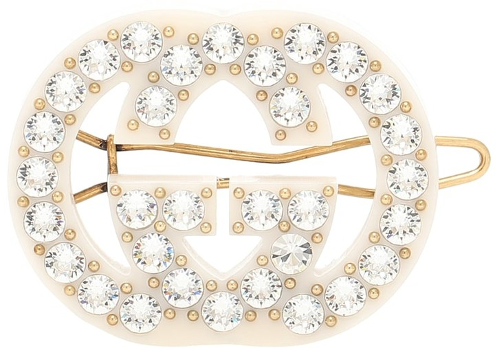 Gucci GG crystal-embellished barrette