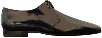 Louis Vuitton Navy Patent leather Lace ups