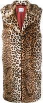 Ganni - sleeveless faux fur coat - women - Acrylic/Polyester - 34