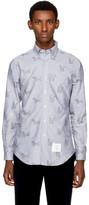 Thom Browne Blue Thom Cat & Hector Funmix Classic Shirt