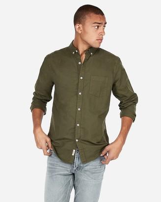 Express Classic Soft Wash Button-Down Oxford Shirt