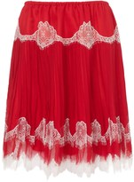 Red Silk Lace Stella Skirt