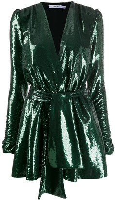 Amen sequined wrap-style dress